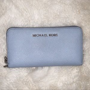 MICHAEL KORS Wallet, Blue and Silver